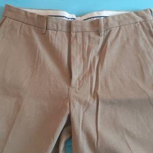 Polo flat front dress pants camel